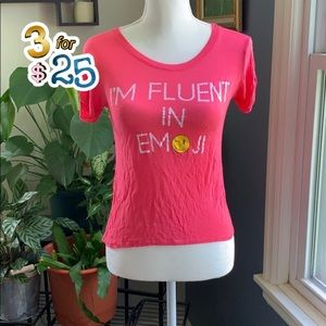 I'm fluent in emoji fitted tee🌟🌟🌟3/$25